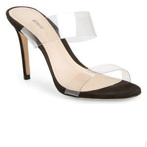 Schutz Ariella Clear Strap High Heel Sandals SZ 7